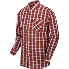 Regatta Lonan Camiseta Manga Larga Hombre, rojo